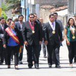 Autoridades regionales de Apurímac participaron de izamiento del pabellón nacional a media asta