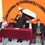 Presentan a nuevo director regional de Transportes y Comunicaciones