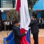 GOBERNADOR DE APURÍMAC REALIZA LA PRIMERA CEREMONIA INTERNA DE IZAMIENTO DEL PABELLÓN NACIONAL Y BANDERA REGIONAL