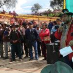 Gobernador Regional coloca primera piedra para construcción de reservorio del canal Mariño en Abancay