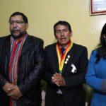 Gobernador de Apurímac recibe a Ministra de la Mujer en Andahuaylas
