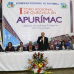 Foro Regional de Quechua congregó a más 500 participantes quechuahablantes