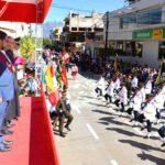 Con paso marcial se desarrolló desfile Cívico Policial por el 198 Aniversario de la Independencia del Perú