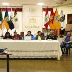Integrantes del COER Apurímac e ingenieros del INGEMMET, toman acciones por deslizamiento del cerro Chamanayoc
