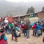 Realizan entrega de víveres a pobladores de Soccoro y Llactabamba afectados por polvareda