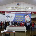 Instalan Red Regional de Lucha Contra la Trata de Personas en Apurímac