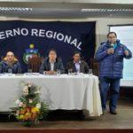 Gobernador de Apurímac dirige conferencia de prensa sobre ejecución de obras y proyectos en la provincia de Andahuaylas