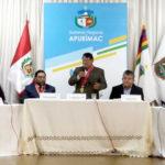 Consejero Delegado del Consejo Regional de Apurímac asume funciones para el periodo legislativo 2020