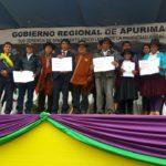 GORE Apurímac y MINAGRI entregan 136 títulos de propiedad en Cocharcas - Chincheros