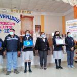 El Gobierno Regional de Apurímac continúa con la entrega de más laptop a docentes y alumnos en Aymaraes