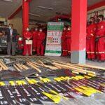 Gobierno Regional entrega módulo de herramientas contra incendios forestales a bomberos de Abancay