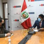 Gobernador de Apurímac se reunió con Ministro del Interior para fortalecer lucha contra la violencia hacia las mujeres