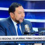 Gobernador Regional de Apurímac firmó convenio por más de 19 millones de soles para mejorar el SIS