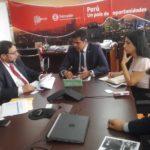 GOBERNADOR BALTAZAR Y DIRECTOR EJECUTIVO DE PRO INVERSIÓN REVISARON PROYECTOS PARA APURÍMAC