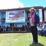 Gobernador regional inicia obras de riego en Cortarma y Huirahuacho