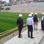 Gobernador regional supervisa obra del Complejo Deportivo El Olivo