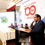 Gobernador de Apurímac presenta informe de los primeros 100 días de gestión