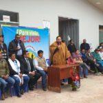 Gobernador regional cumple diversas actividades de trabajo en la provincia de Andahuaylas