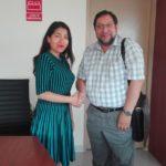 Gobernador Baltazar Lantarón se reunió con Directora de la Autoridad para la Reconstrucción Con Cambios