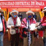 Gobierno Regional reconoce a donantes de terrenos e infraestructura para educación en Congota, Mara, Cotabambas