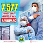 Apurímac recibirá 7 mil 577 vacunas para personal de salud