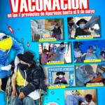 Apurímac primer lugar en proceso de vacunación a nivel de la Macrosur